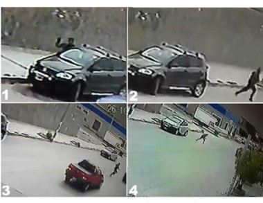 La secuencia fue registrada por las cámaras de seguridad del lugar.