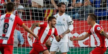 Contra todo pronóstico, Girona le pegó al campeón. Remontada. Real Madrid a 8 puntos del Barça.