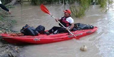 La travesía limpiando el río se llevará a cabo en forma conjunta con el Grupo Patagonia Pesca y Kayak.