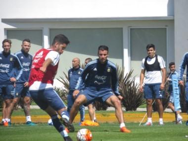El conjunto que dirige Jorge Sampaoli tuvo otro día de entrenamientos en el predio de Ezeiza.
