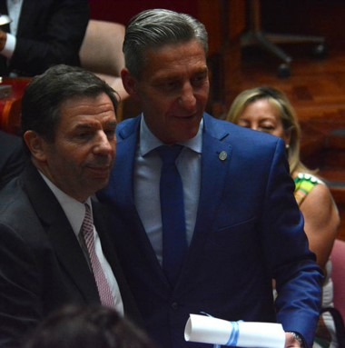 Arcioni recibió el diploma y su lugar en el Congreso será para Muñoz.