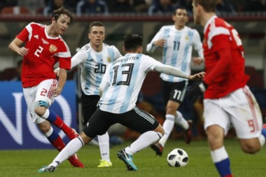 La Selección estrena la camiseta que usará en el Mundial del próximo año.