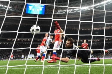 El festejo del gol argentino que vuelve a jugar el martes ante Nigeria en Krasnodar.