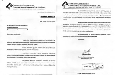 Llegó carta. El presidente de las Cooperativas, Gabriel Tcharian, y un reclamo que algo sorprendió.