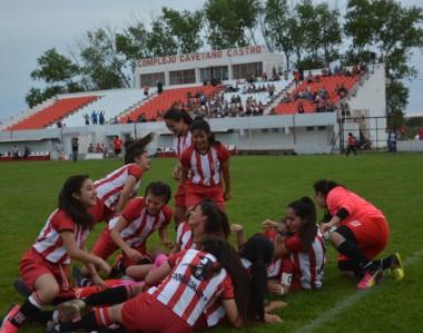 El Sub 14 femenino de Racing derrotó el sábado por penales a San Lorenzo de Mapu, la selección de Río Negro.