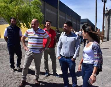 El intendente Sastre junto a sus funcionarios observó los trabajos que se llevan adelante en el predio.