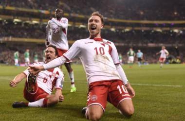 Dinamarca le dio una paliza como visitante a Irlanda y clasificó a Rusia 2018.