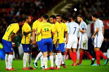 Brasil e Inglaterra empataron sin goles en Londres.