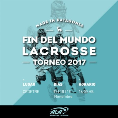 El lacrosse sigue creciendo en la zona y ahora los equipos locales se medirán en el Torneo del Fin del Mundo.
