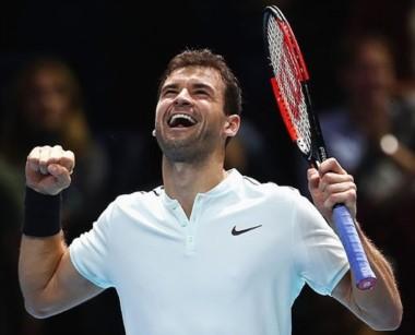 Dimitrov, en su primer Masters de la ATP, volvió a ganar y ya se clasificó para las semifinales.