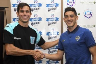 Esto también es fútbol: Espinoza y Solari dieron una conferencia de prensa en conjunto, organizada por la Superliga.