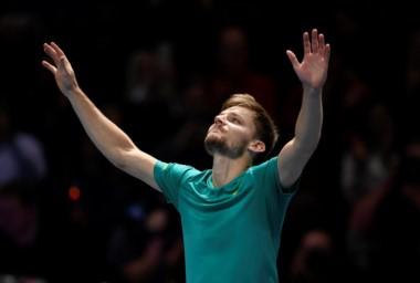Goffin elimina a Federer y se planta en la final del Masters.