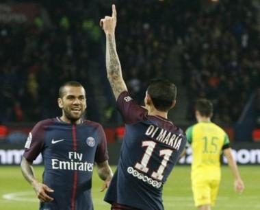 Con dos goles de Cavani, uno de Di María y otro de Pastore, el PSG aplastó al Nantes.
