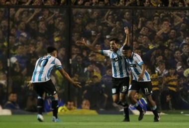Racing Club sacó la casta y despojó a Boca de su invicto en La Bombonera.