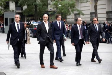 Declararon en la Audiencia Nacional de España acusados de rebelión, sedición y malversación por intentar materializar la secesión de Cataluña