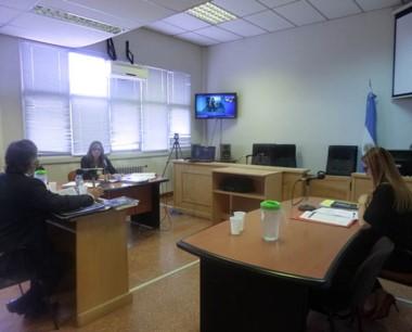 La audiencia se realizó con el imputado en  sistema de videoconferencia