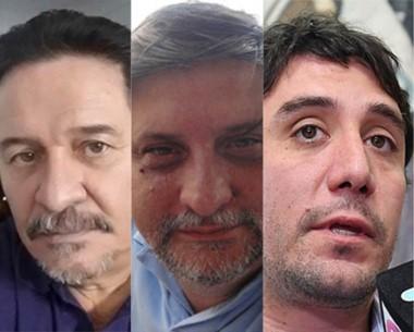 Nuevas caras y otras no tanto. De izquierda a derecha Sotomayor, Mammarelli y Gilardino.