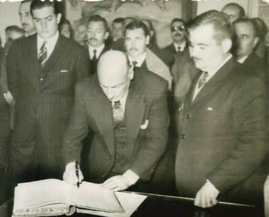 Jorge Galina, primer gobernador electo de Chubut.