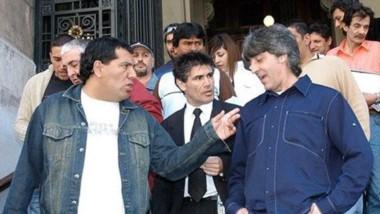 Pereyra junto a Rafa Di Zeo en una imagen de archivo, saliendo de tribunales.