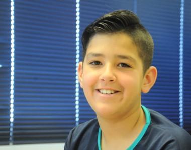 Sebastián Moreno Pérez, de 12 años, en una de las promesas del ajedrez que tiene la ciudad de Puerto Madryn.