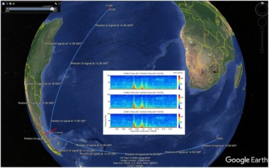 Este mapa marca la ubicación del registro sonoro de la CBTBO (Comprehensive Nuclear-Test-Ban Treaty Organization), entidad que monitorea los mares del mundo para detectar eventuales pruebas nucleares.