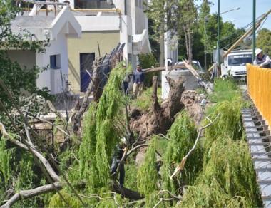 Hubo daños en viviendas y el puente colgante no se afectó.
