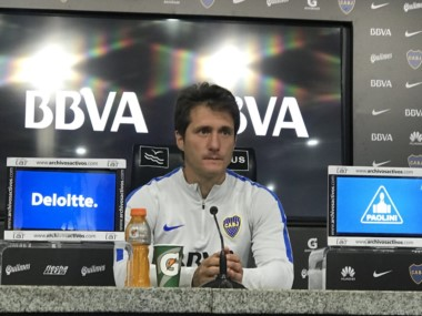 Barros Schelotto en conferencia de prensa: