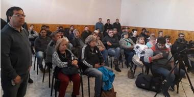 La participación en Rawson durante la conformación de la Mesa de Unidad de los gremios entre CGT y CTA.