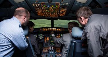 Junto a otros periodistas, Jornada vivió la experiencia de un vuelo simulado,  piloteado por Miodik.