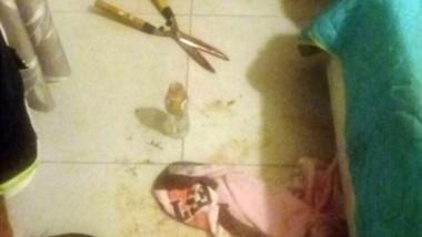 Terrorífico. La tijera que usó la joven arquitecta para cortarle el pene a su amante de 40 años.