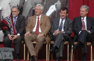 Póker. Desde la izquierda, Perl, Cosentino, Maestro y Lizurume, los cuatro convocados por Arcioni.