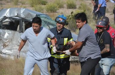 El Toyota Corolla resultó con destrucción total. Su conductor quedó atado a la butaca ya sin vida.