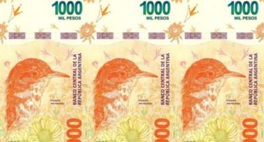 El Banco Central anunció que pone en circulación el billete de 1000 pesos con la imagen de otro animal autóctono: el hornero.