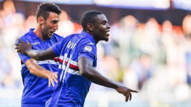 Partidazo para Duvan Zapata en la victoria de Sampdoria. El ex América de Cali asistió en los 2 goles.