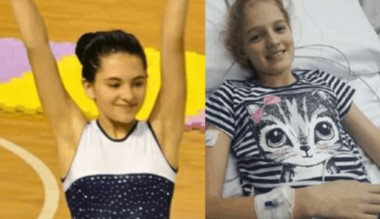 Los padres de Abril Bogado, la niña de 12 años asesinada el domingo, le donaron su corazón a Justina Lo Cane (derecha), pero el trasplante no pudo ser por incompatibilidad.