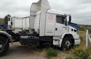 El camión Mercedes Benz fue demorado e incautado en la mañana de ayer en el puesto de Arroyo Verde.