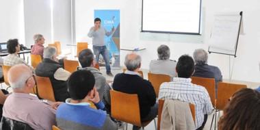 La disertación sobre el Proyecto de Riego de la meseta estuvo a cargo  del ingeniero Darío Esteban Parra.