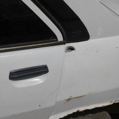 Uno de los disparos pasó muy cerca de la nena, que quedó en el auto.