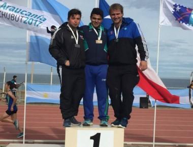 Marco Galindo (Chubut) obtuvo la medalla dorada en lanzamiento de bala.
