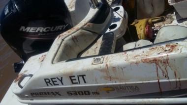 Investigan el confuso episodio a bordo de una lancha que terminó ensangrentada.