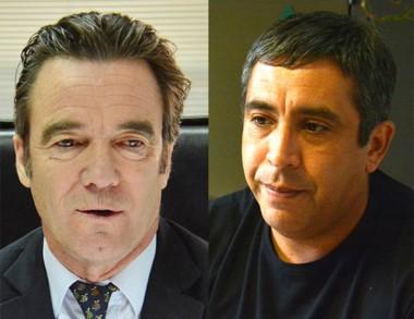 Protagonistas. Maza (izquierda) y Santillán, el exjefe denunciado.