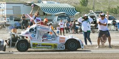 Luis Pugh se consagró campeón en los 850cc. El sábado ganó la primera final y ayer llegó en el cuarto lugar.
