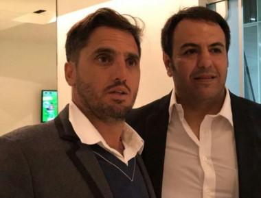Aldo Bisconti junto a un referente del rugby mundial, Agustín Pichot.