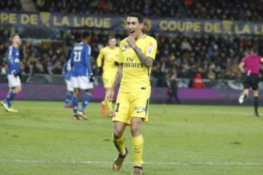 """El """"Fideo"""" Di María fue la figura del París Saint Germain."""