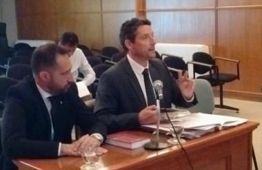 Sebastián Daroca y Jorge Benesperi, defensor general y adjunto respectivamente, que efectuaron la queja.