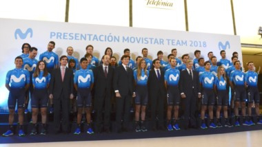 Fue presentado el equipo del Movistar Team con el chubutense Sepúlveda.