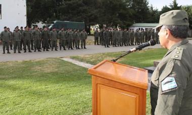 El acto se realizó en la plaza de armas de la fuerza.
