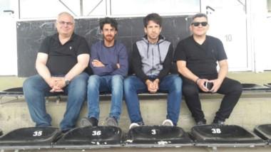 l DT Placente junto a Aimar y los directivos Lovato y Ferreiro estuvieron observando el Torneo Nacional Sub 15 en Cipolletti. (Foto: @afa).