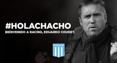 Racing le dio la bienvenida a Coudet a través de la cuenta de twiter.