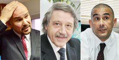 Trío. Barrios (izquierda), Minatta y Defranco confirmaron dos condenas pero absolvieron al tercero.